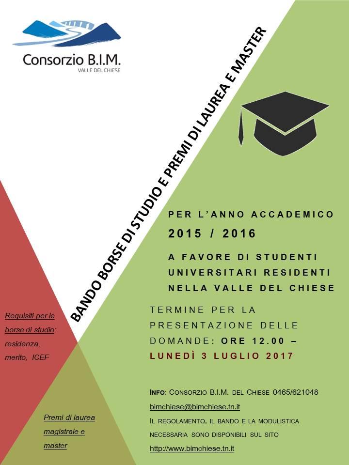 consegna veloce come ottenere scegli il più recente Studenti universitari della Valle del Chiese, per le borse ...