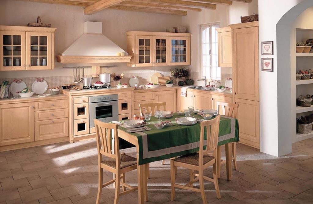 cucina in legno arredamenti binelli a carisolo